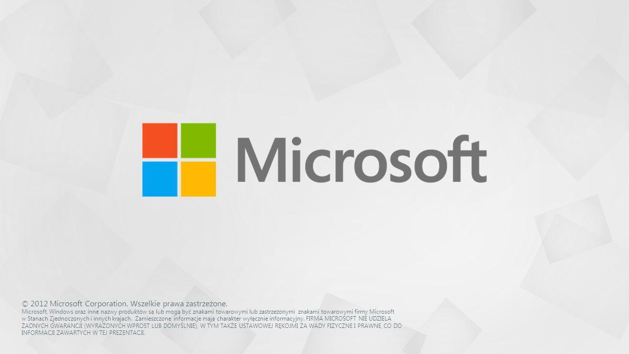 © 2012 Microsoft Corporation. Wszelkie prawa zastrzeżone.