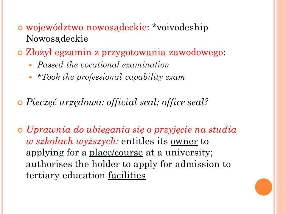 województwo nowosądeckie: *voivodeship Nowosądeckie