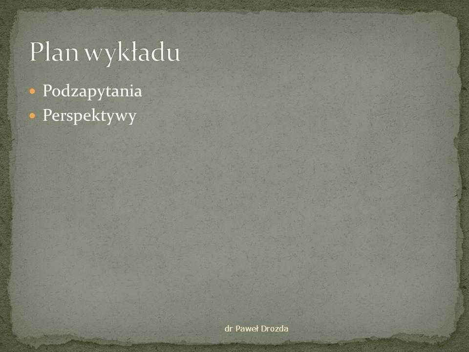 Plan wykładu Podzapytania Perspektywy dr Paweł Drozda