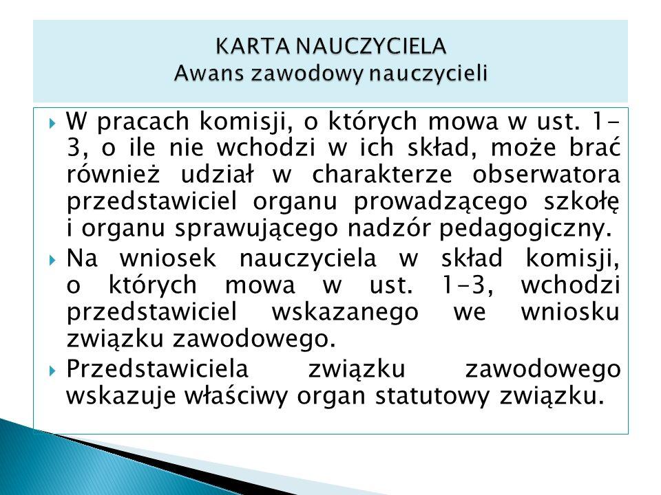 KARTA NAUCZYCIELA Awans zawodowy nauczycieli