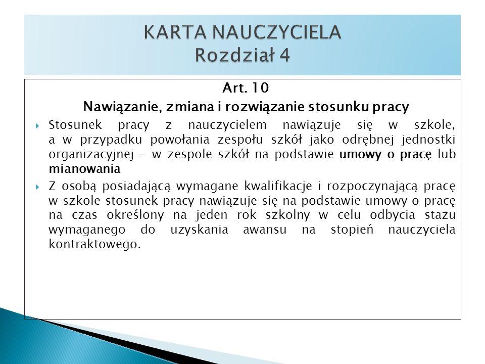 KARTA NAUCZYCIELA Rozdział 4