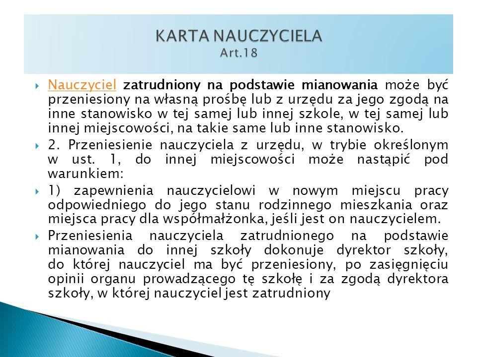 KARTA NAUCZYCIELA Art.18