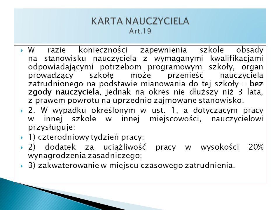 KARTA NAUCZYCIELA Art.19