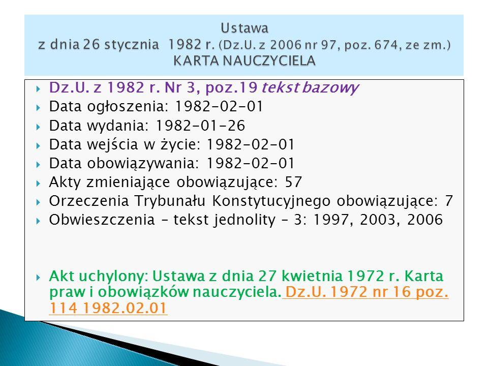 Dz.U. z 1982 r. Nr 3, poz.19 tekst bazowy Data ogłoszenia: 1982-02-01