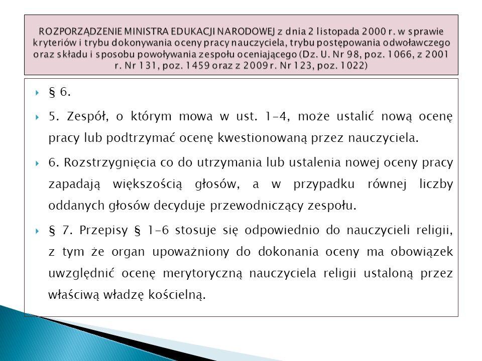 ROZPORZĄDZENIE MINISTRA EDUKACJI NARODOWEJ z dnia 2 listopada 2000 r