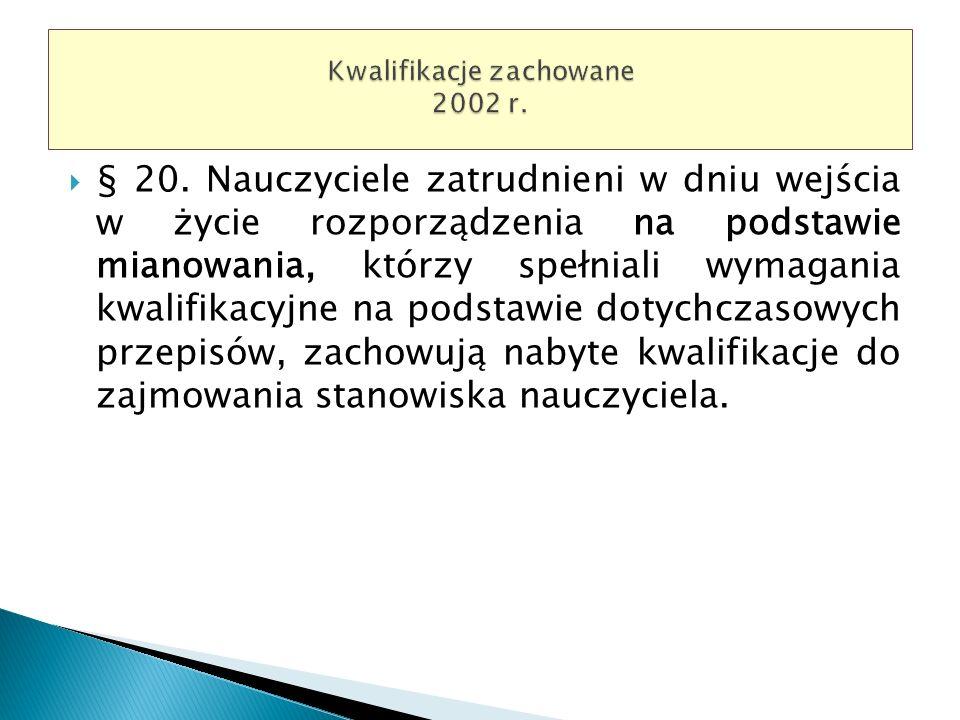 Kwalifikacje zachowane 2002 r.