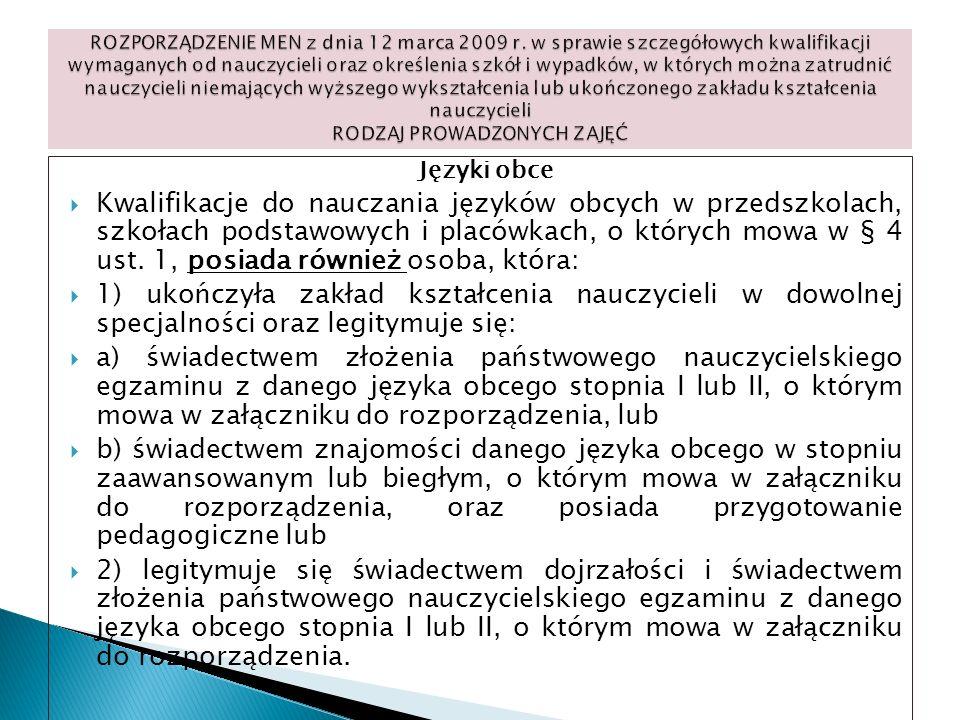 ROZPORZĄDZENIE MEN z dnia 12 marca 2009 r