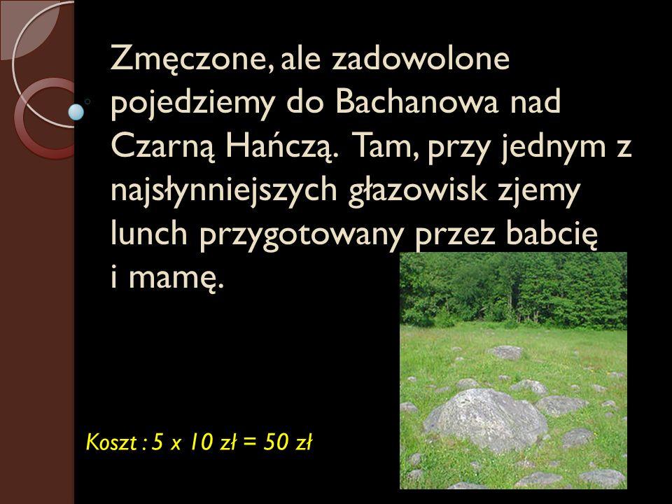 Zmęczone, ale zadowolone pojedziemy do Bachanowa nad Czarną Hańczą