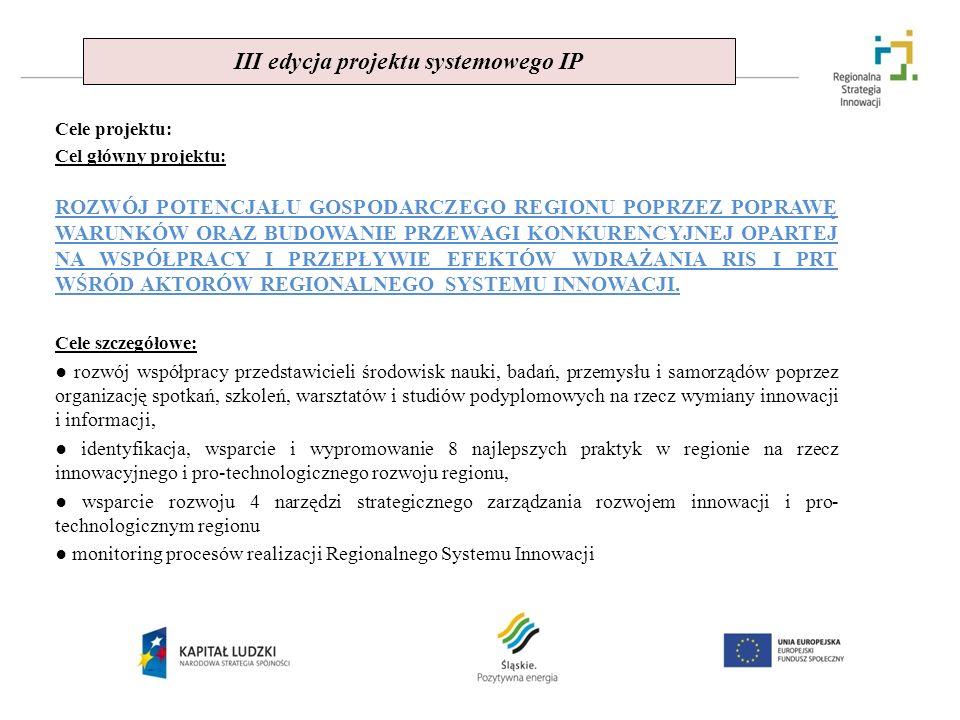 III edycja projektu systemowego IP