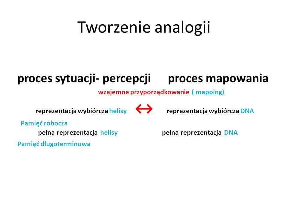 Tworzenie analogii proces sytuacji- percepcji proces mapowania