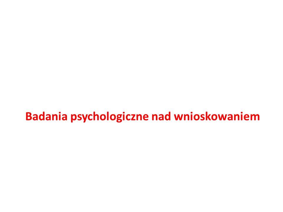 Badania psychologiczne nad wnioskowaniem