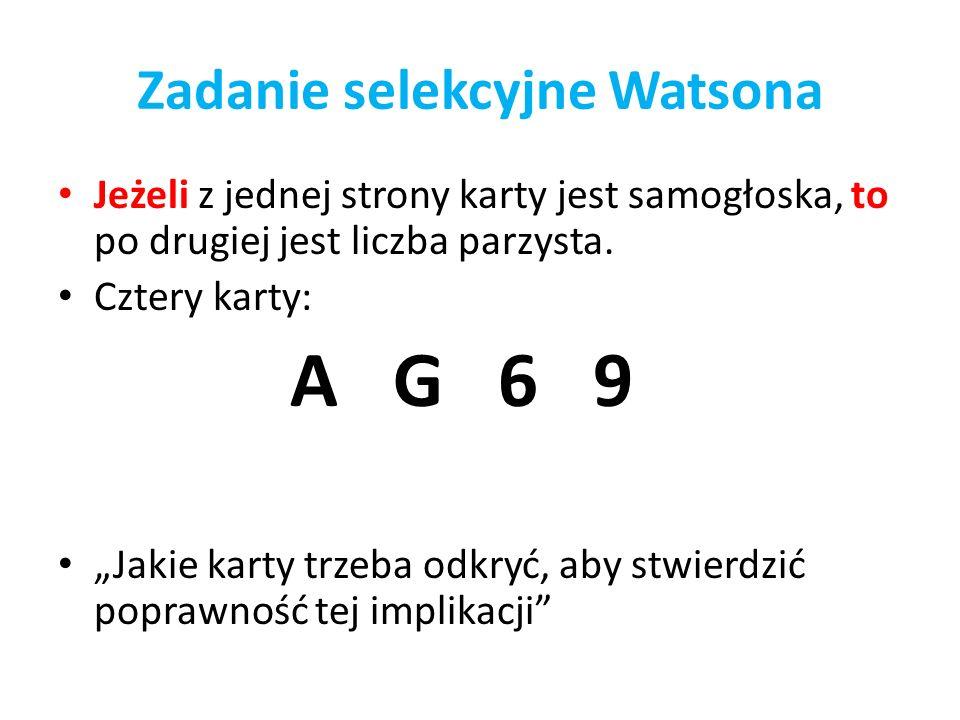 Zadanie selekcyjne Watsona