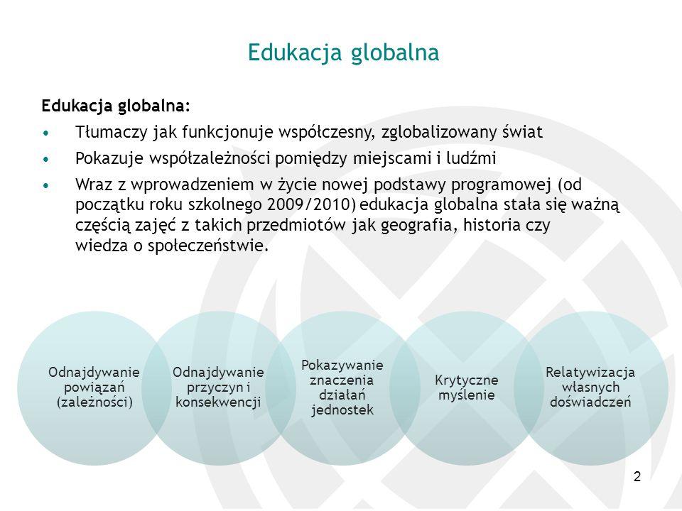 Edukacja globalna Edukacja globalna: