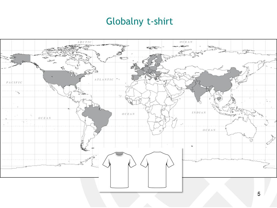 Globalny t-shirt