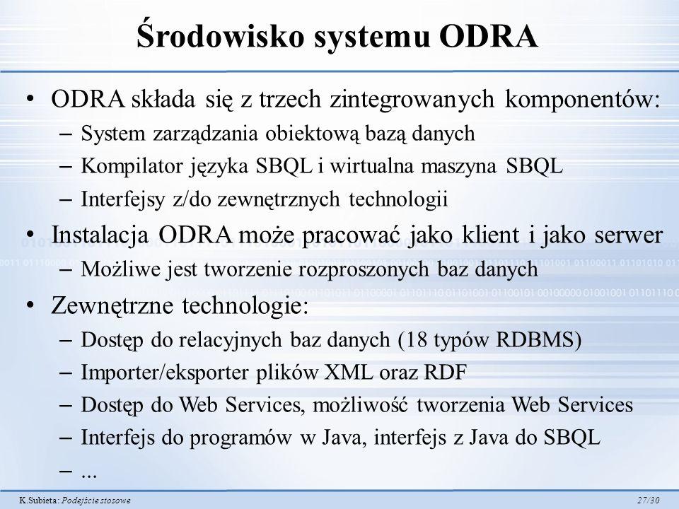 Środowisko systemu ODRA