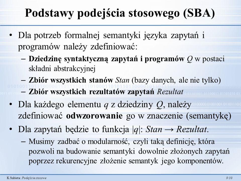 Podstawy podejścia stosowego (SBA)