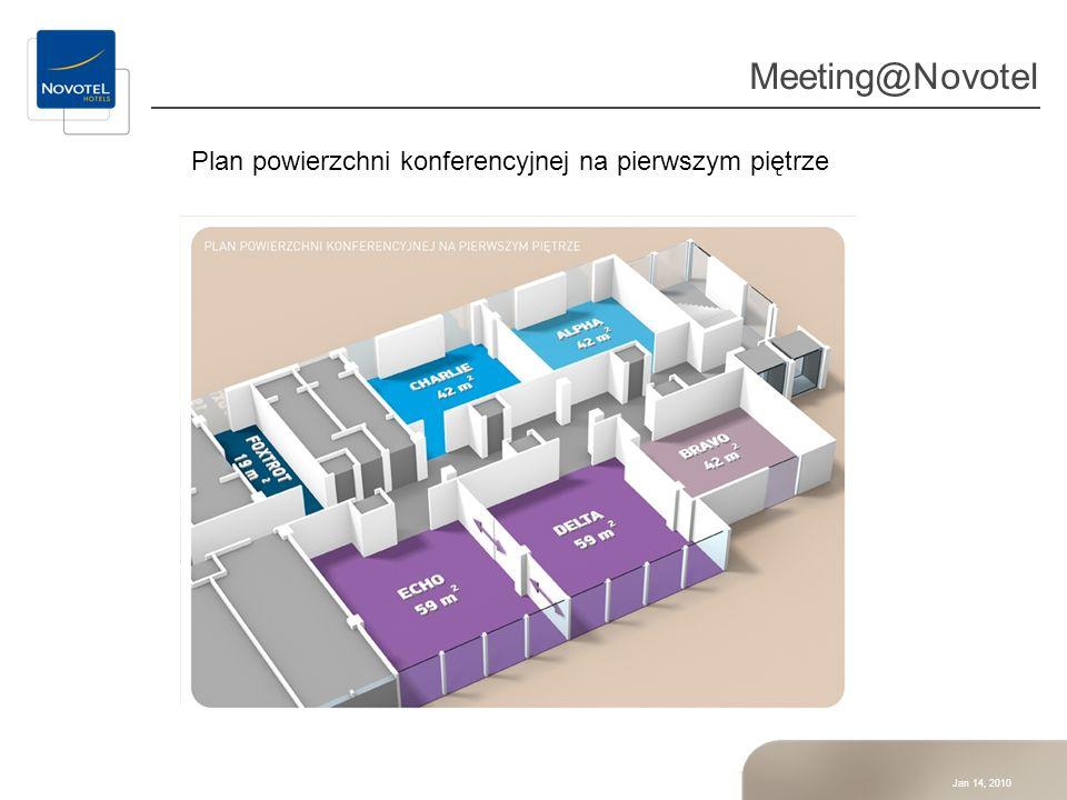 Meeting@Novotel Plan powierzchni konferencyjnej na pierwszym piętrze