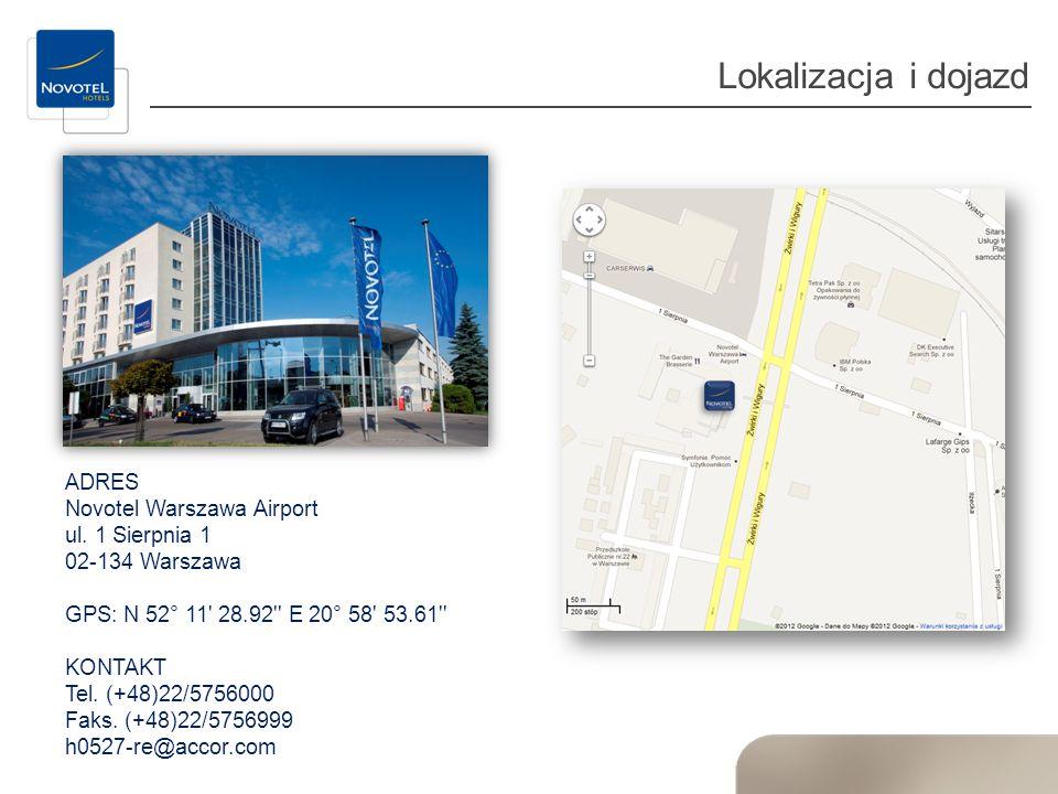 Lokalizacja i dojazd ADRES Novotel Warszawa Airport ul. 1 Sierpnia 1