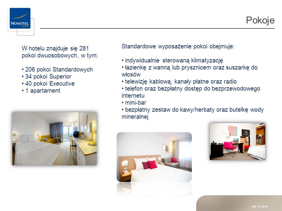 Pokoje Standardowe wyposażenie pokoi obejmuje: