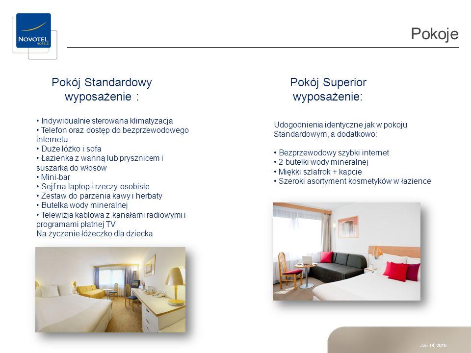 Pokoje Pokój Standardowy wyposażenie : Pokój Superior wyposażenie: