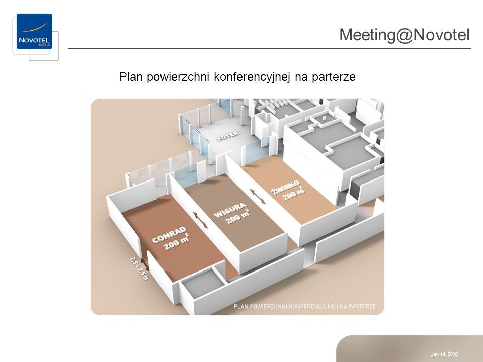 Plan powierzchni konferencyjnej na parterze