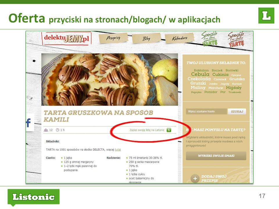 Oferta przyciski na stronach/blogach/ w aplikacjach