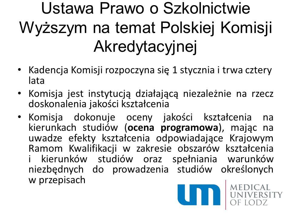 Ustawa Prawo o Szkolnictwie Wyższym na temat Polskiej Komisji Akredytacyjnej