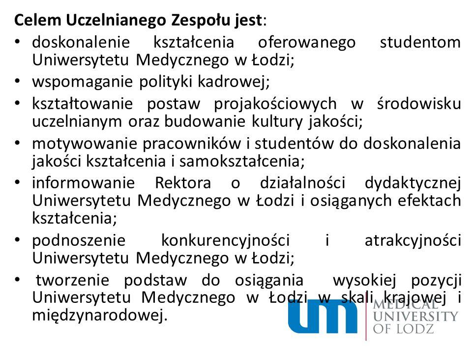 Celem Uczelnianego Zespołu jest: