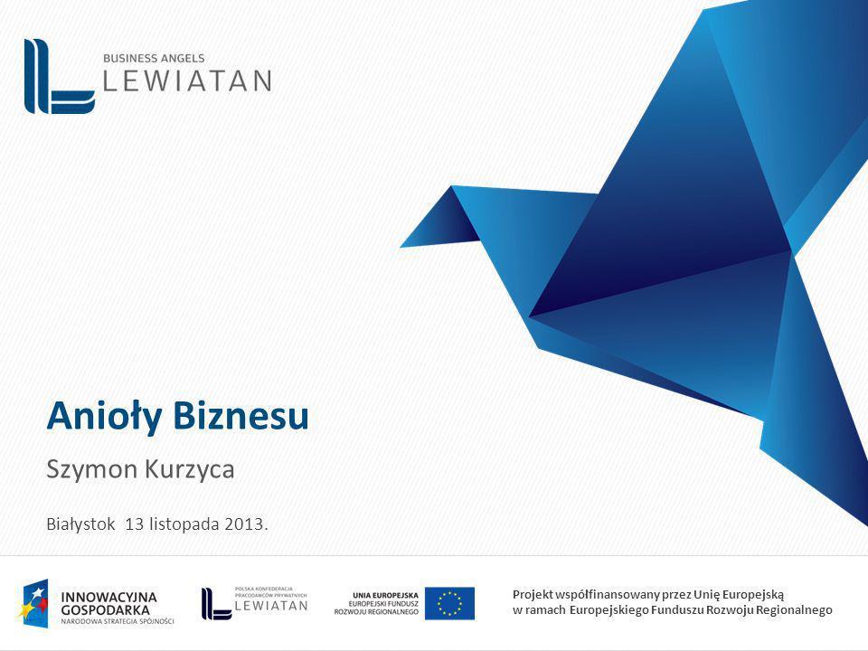 Anioły Biznesu Szymon Kurzyca Białystok 13 listopada 2013.