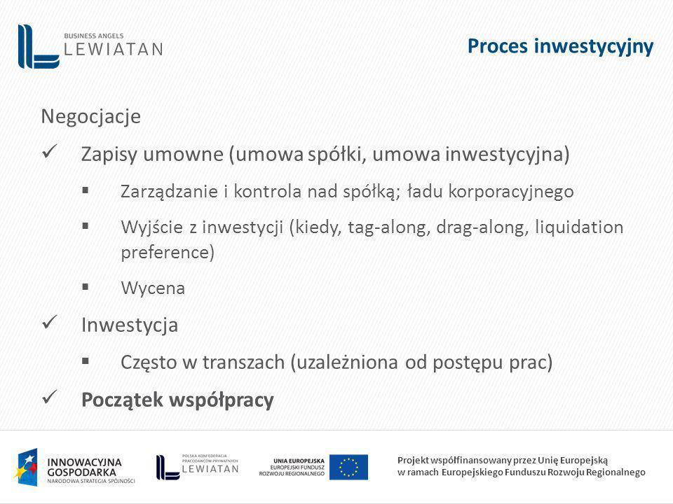 Zapisy umowne (umowa spółki, umowa inwestycyjna)