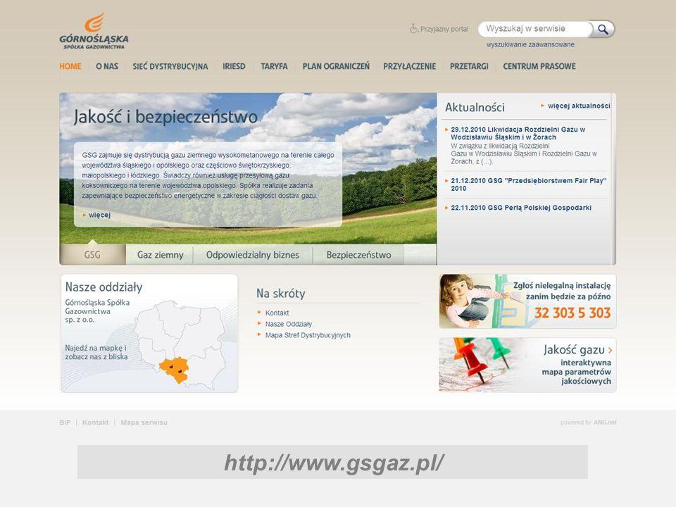 Obsługa klientów www.gsgaz.pl