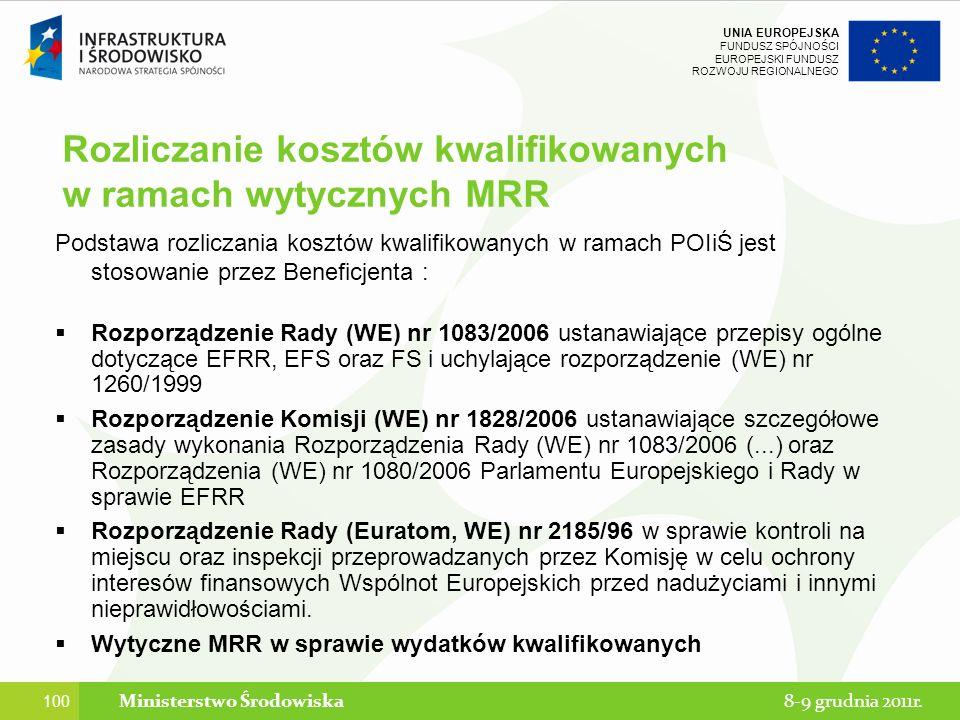 Rozliczanie kosztów kwalifikowanych w ramach wytycznych MRR
