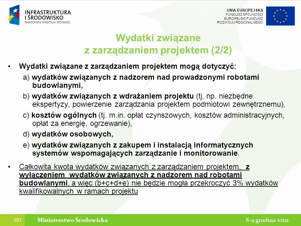 z zarządzaniem projektem (2/2) Ministerstwo Środowiska