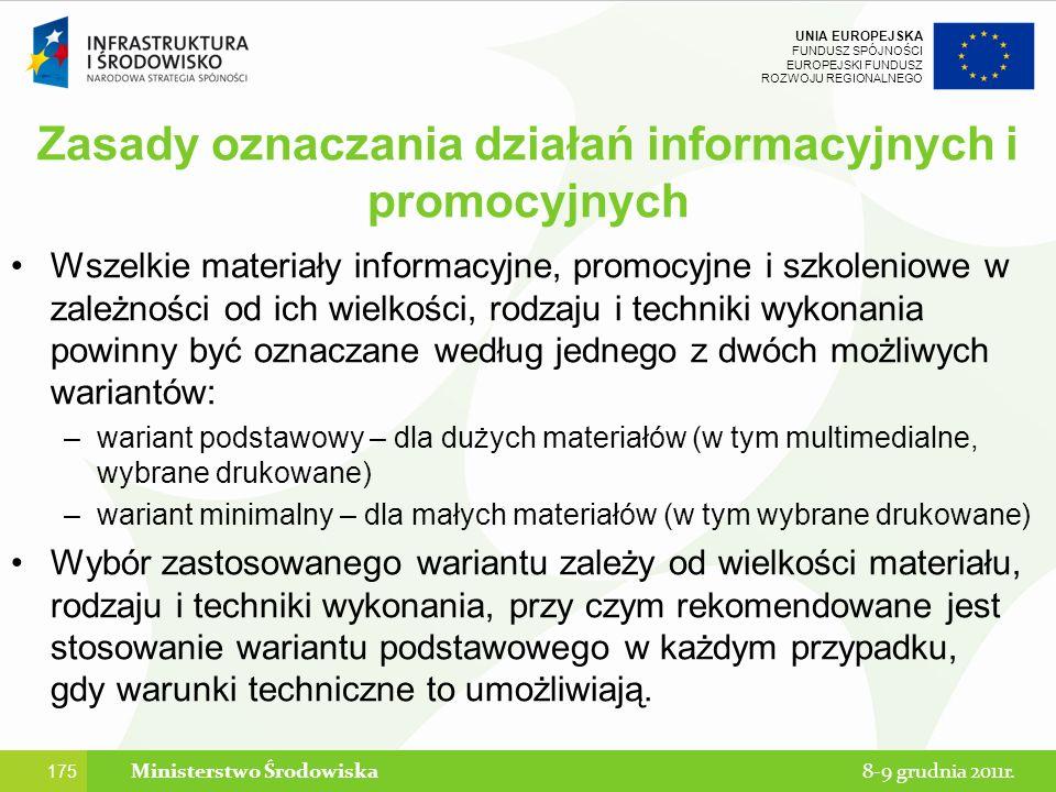 Zasady oznaczania działań informacyjnych i promocyjnych