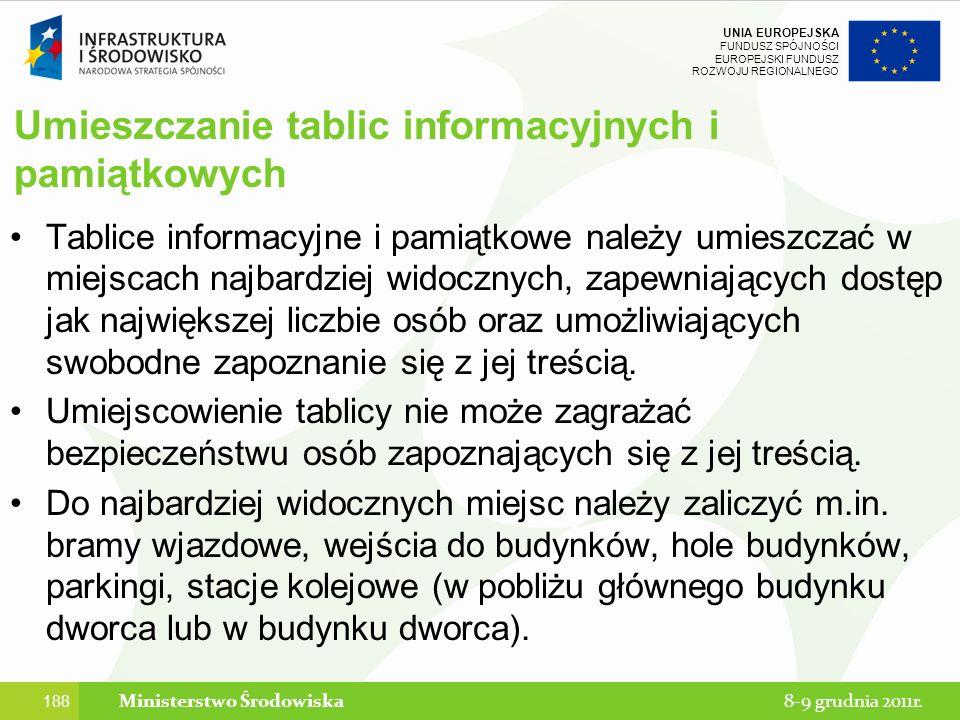 Umieszczanie tablic informacyjnych i pamiątkowych