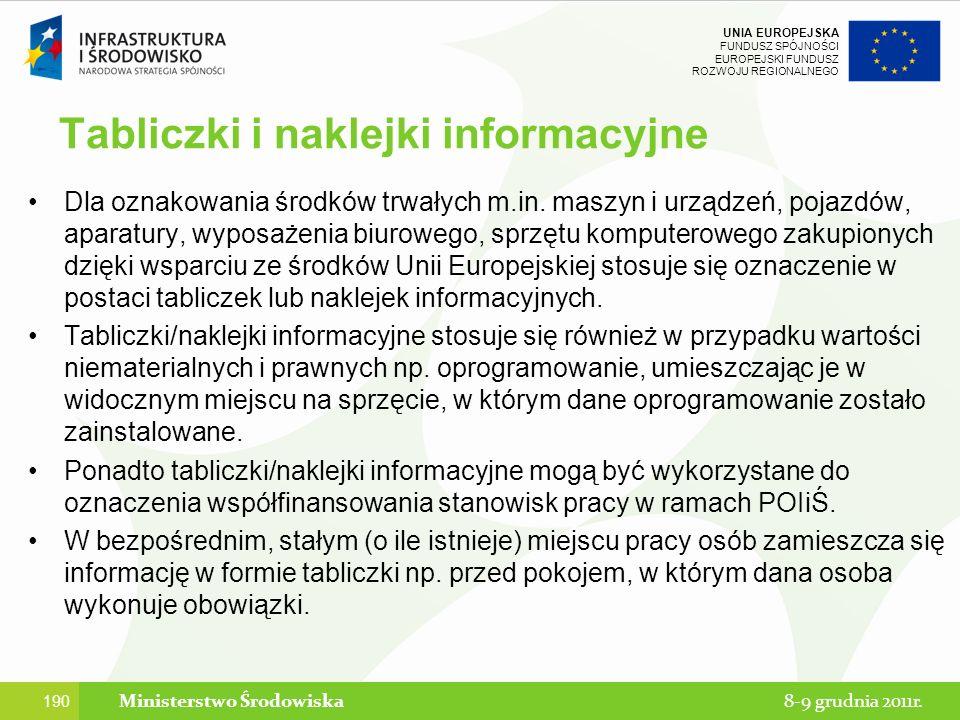 Tabliczki i naklejki informacyjne