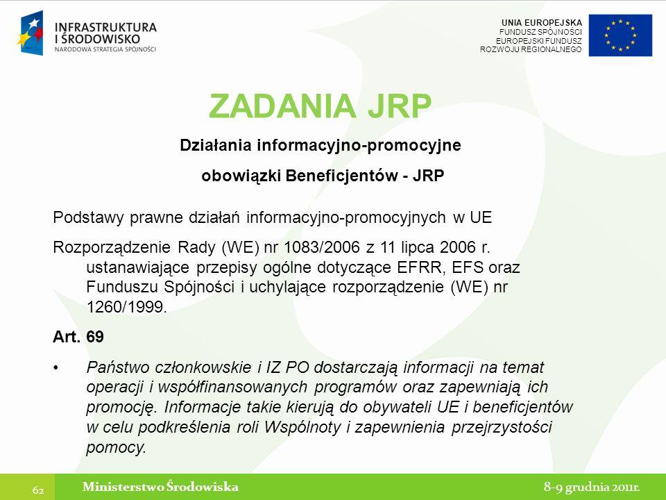 ZADANIA JRP Działania informacyjno-promocyjne