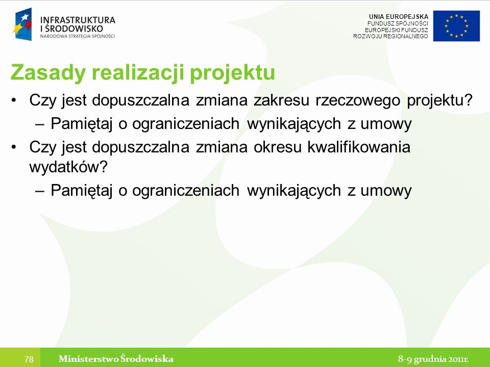 Zasady realizacji projektu