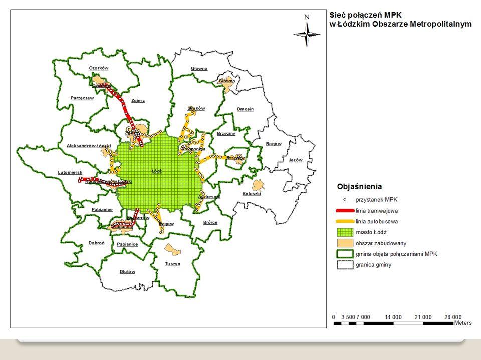 Łącznie analizie poddaliśmy 4 powiaty, w których znajduje się 28 gmin (na obszarze bezpośredniej działalności (tam gdzie są przystanki) mpk 15 gmin a obserwowanej w dużym stopniu bezpośredniości dodatkowych 6 (gdzie dostepnośc do przystanku jest dobra ale nie znajduje się on na terenie gminy).