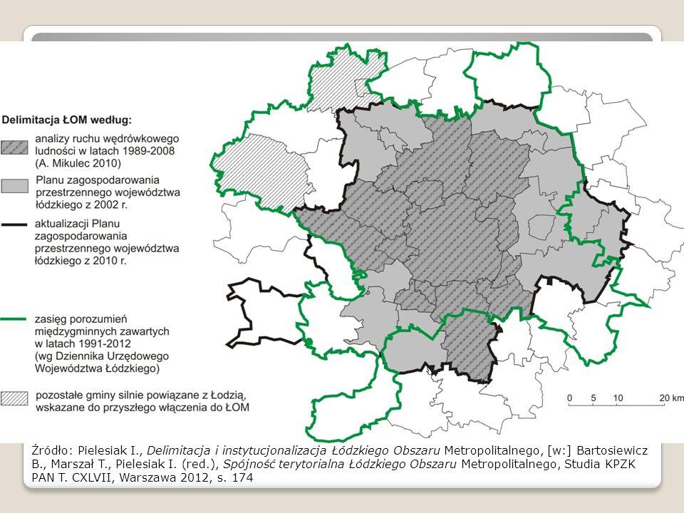 Z racji, że na badanym obszarze relacje elementów zaplecza obszaru metropolitalnego z łodzią mają charakter dominujący w zestawie powiązań komunikacyjnych (co wykazała dr Pielesiak w swej rozprawie doktorskiej) ograniczyliśmy się do oceny tych powiązań. Czyli oceniliśmy powiązania jednostka osadnicza czy też gmina ościenna – Łódź. Te relacje metropolia-zaplecze są ważne także z innego punktu widzenia. Mianowicie w odniesieniu do modeli teoretycznych (Perroux'a i Hirschmana) które wyjaśniają sposoby rozprzestrzeniania się impulsów rozwojowych z dużego miasta na jego peryferia.