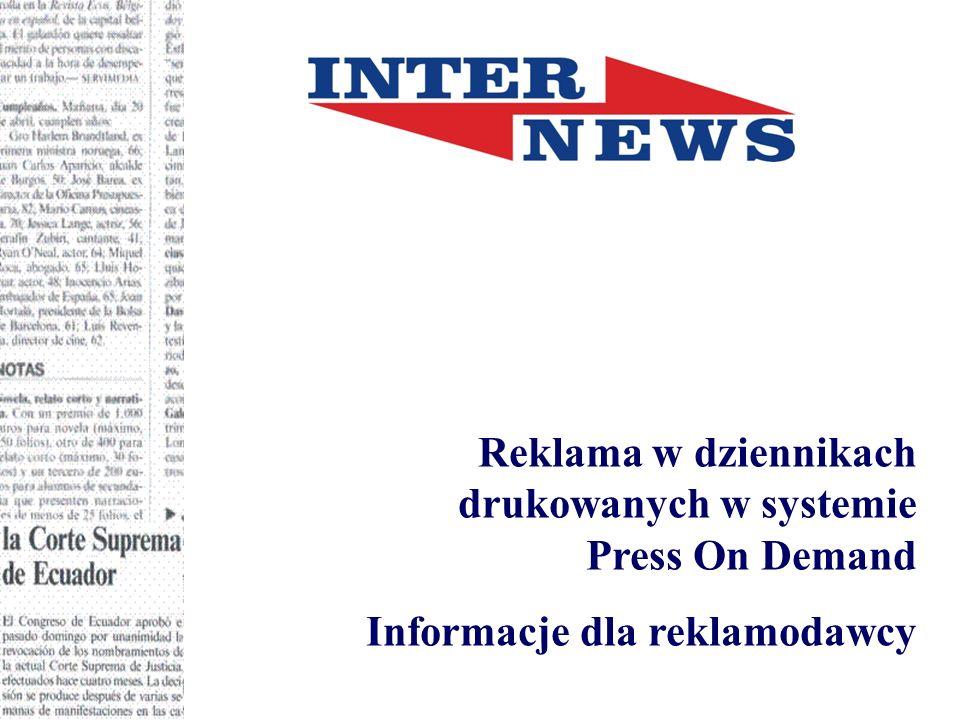 Reklama w dziennikach drukowanych w systemie Press On Demand