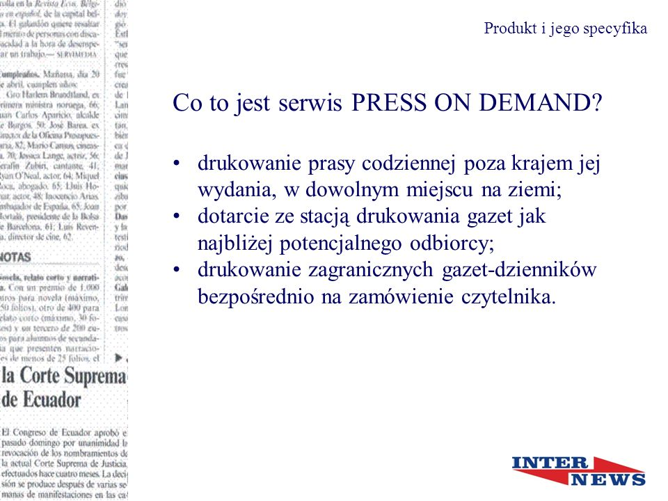 Co to jest serwis PRESS ON DEMAND