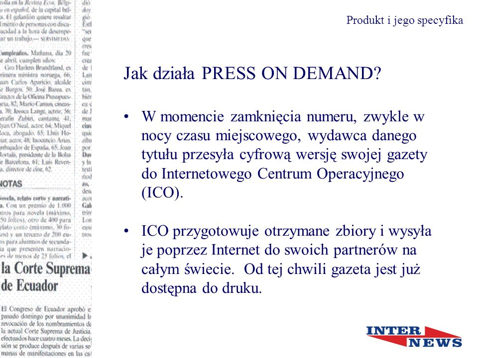Jak działa PRESS ON DEMAND