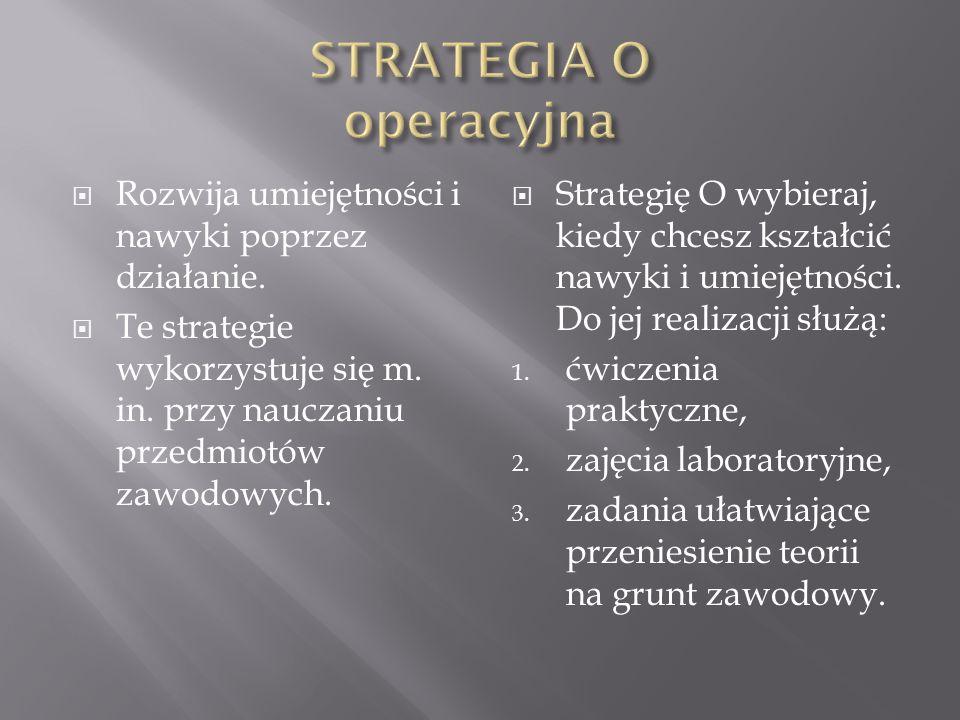 STRATEGIA O operacyjna