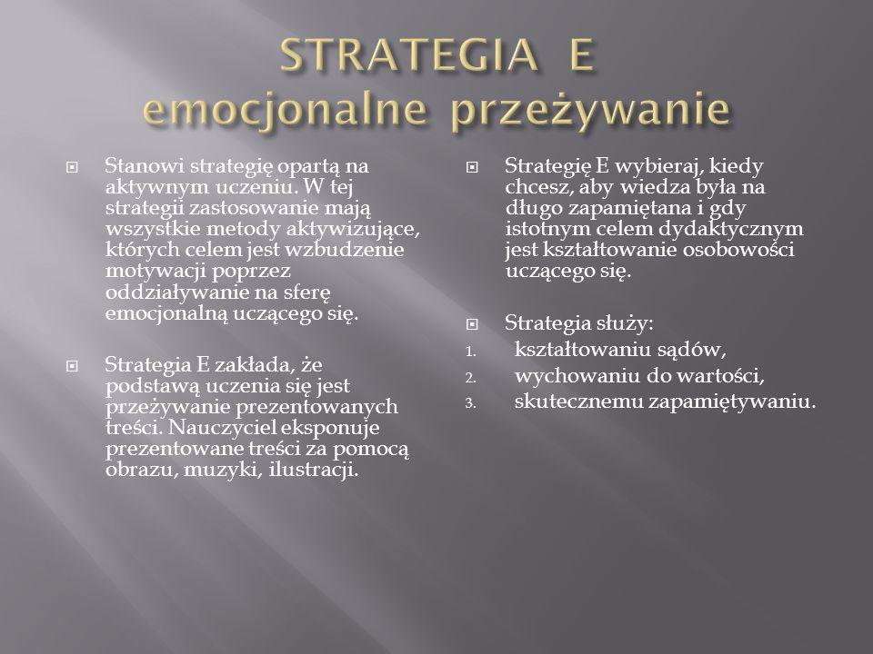 STRATEGIA E emocjonalne przeżywanie