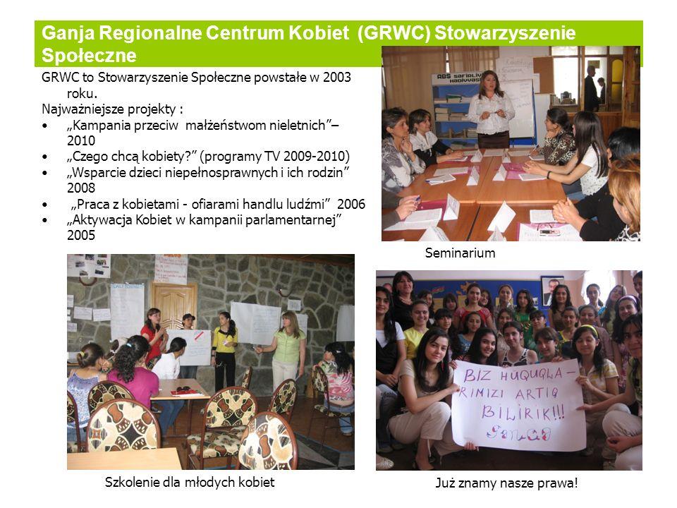 Ganja Regionalne Centrum Kobiet (GRWC) Stowarzyszenie Społeczne