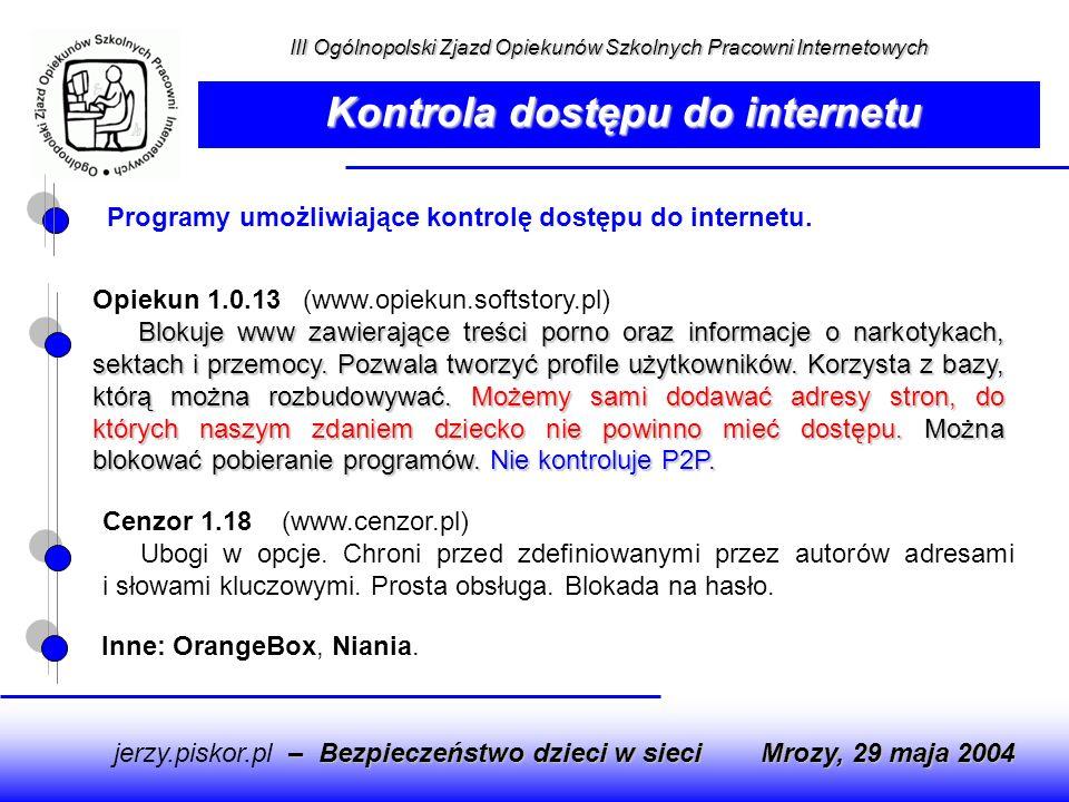 Kontrola dostępu do internetu