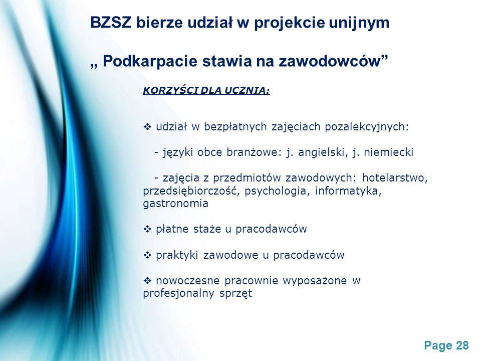 BZSZ bierze udział w projekcie unijnym