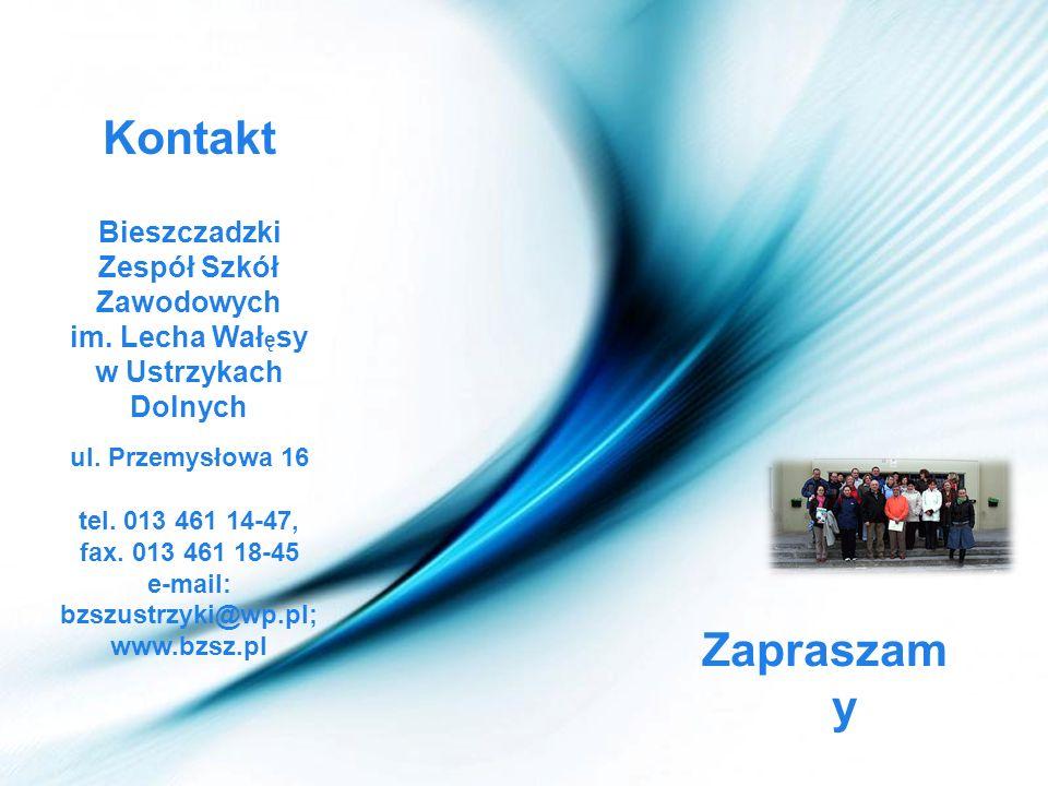Bieszczadzki Zespół Szkół Zawodowych e-mail: bzszustrzyki@wp.pl;