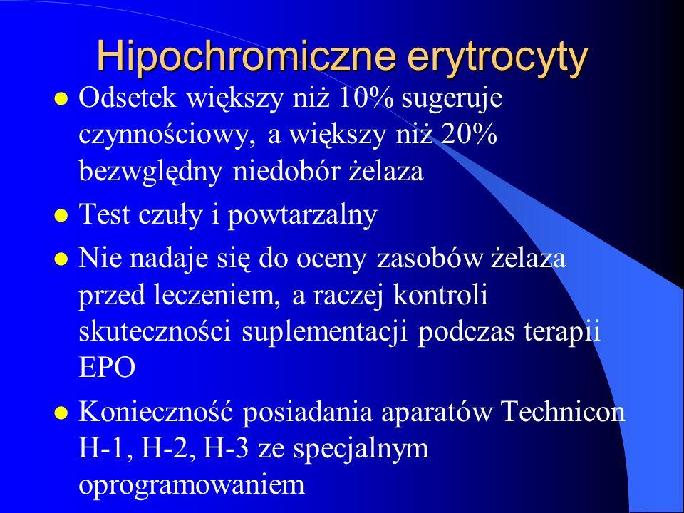 Hipochromiczne erytrocyty